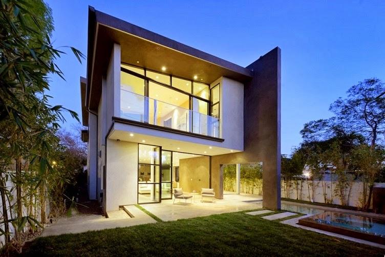 Casa 355 mansfield de l neas y formas integradas amit for Casas modernas hollywood