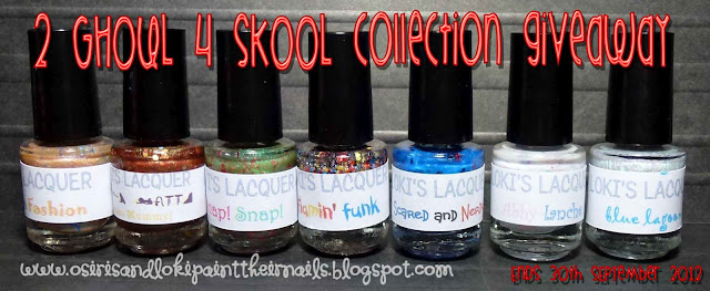 Osiris and Loki paints their nails's 2 Ghoul 4 Skool collection Giveaway!