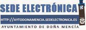 Sede electrónica Ayto Doña Mencía