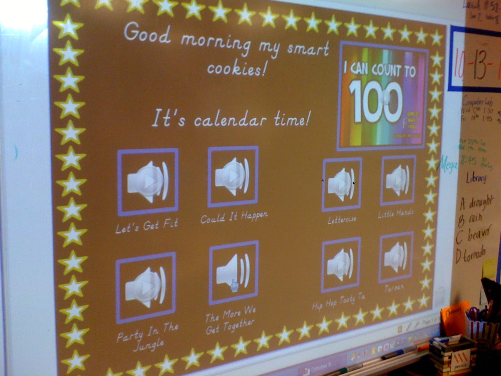 Smartboard Kindergarten Calendar : Love for kindergarten say goodbye to boring calendar time