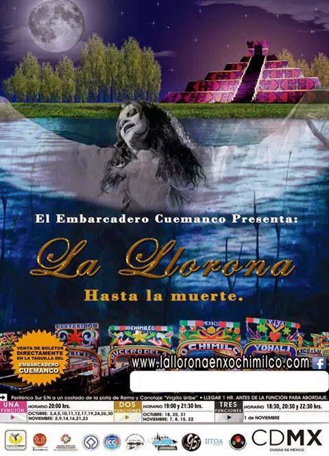 La Llorona en Xochimilco 2014 en el Embarcadero Cuemanco