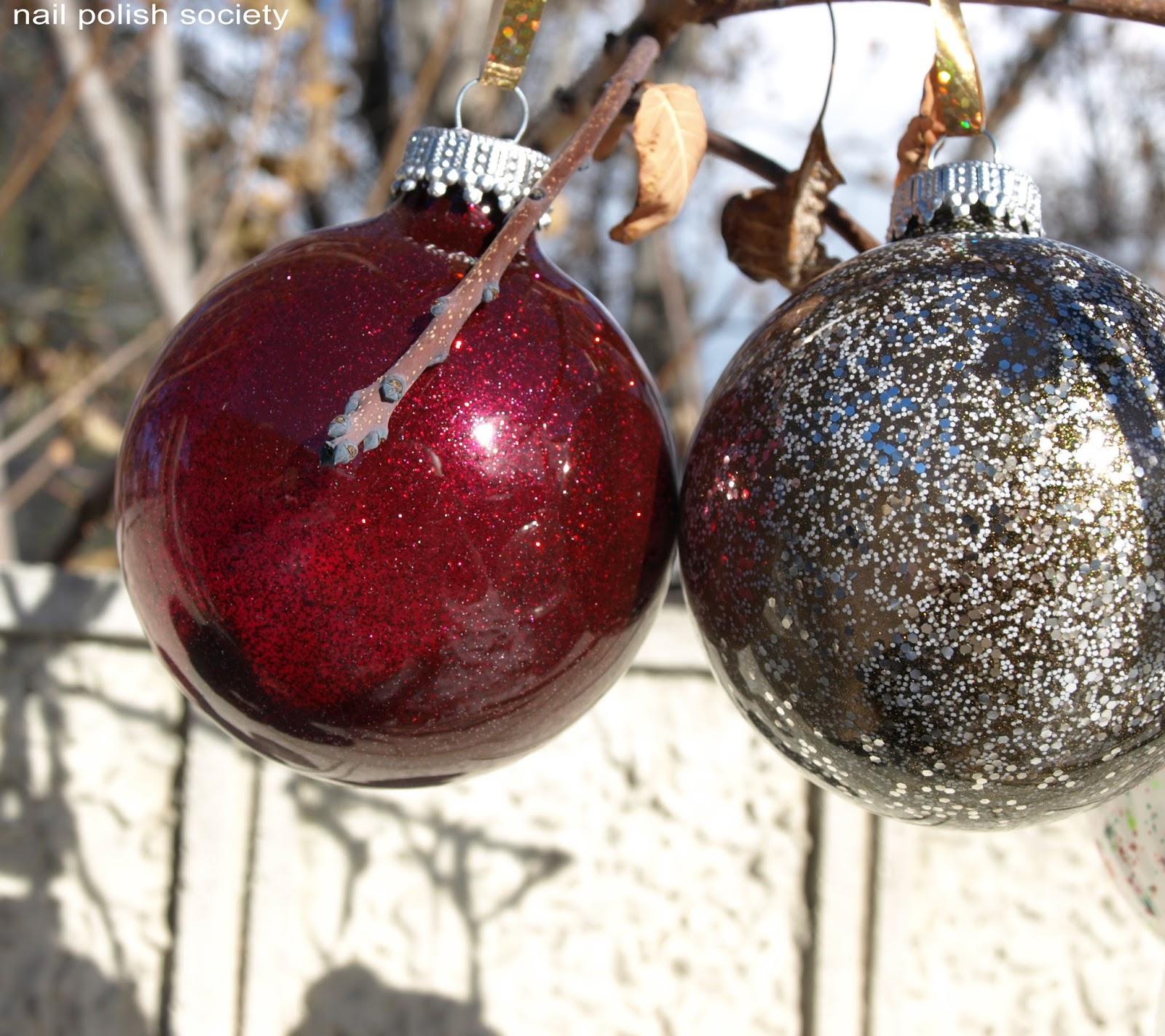 Christmas Ornaments Nail Polish : Nail polish society christmas ornaments