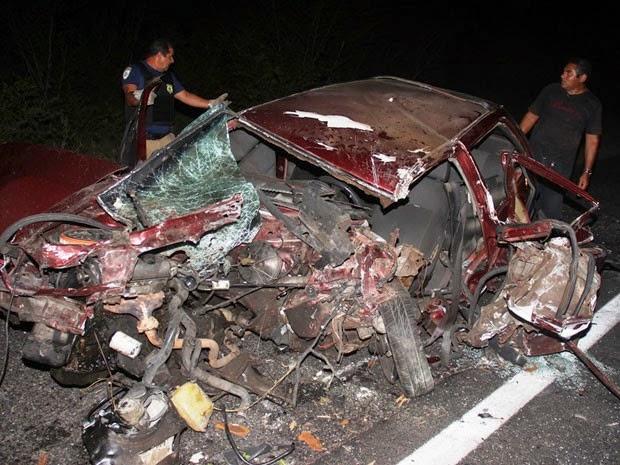 Vereador morreu na hora após colidir com caminhão (Foto: Raimundo Mascarenhas / Calila Noticias)