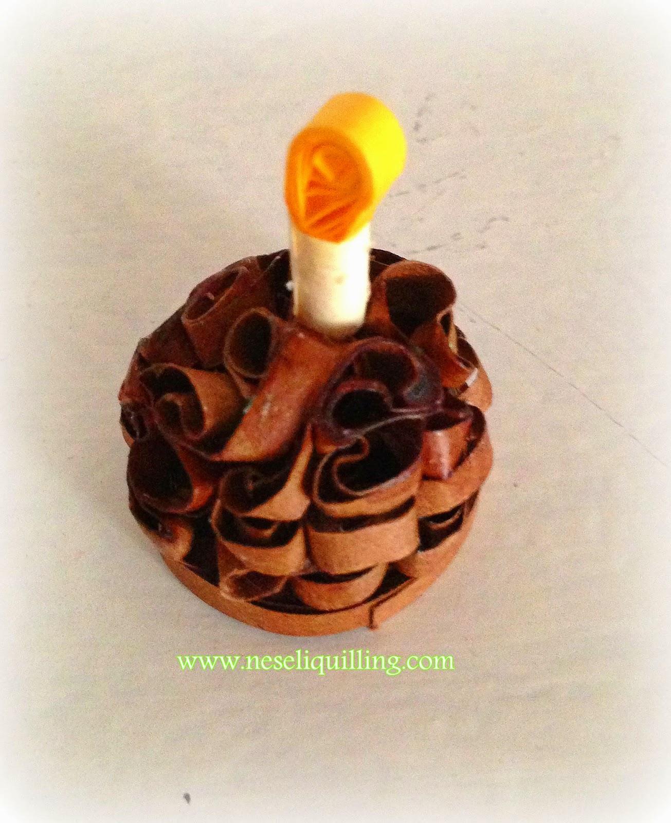 quilling birthday cake