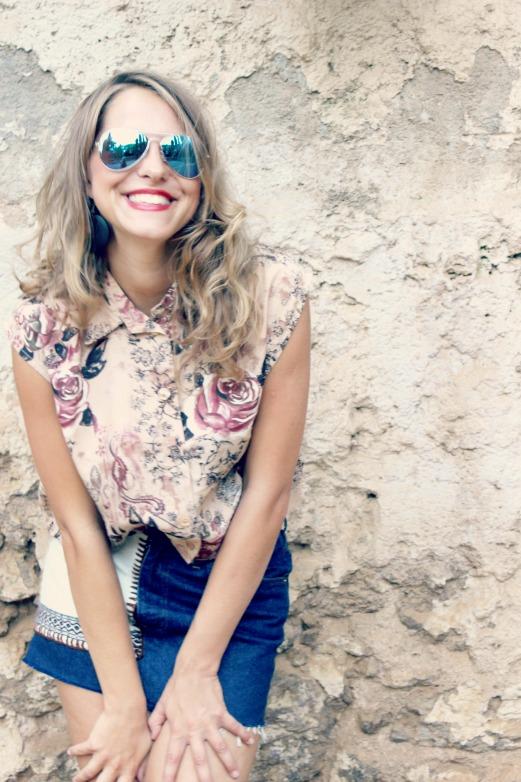 outfit gafas de sol vintage