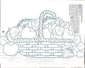 cesta com rosas e maças