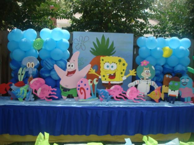 Birthday party decoration ideas interior decorating idea for Balloon decoration for kids birthday party