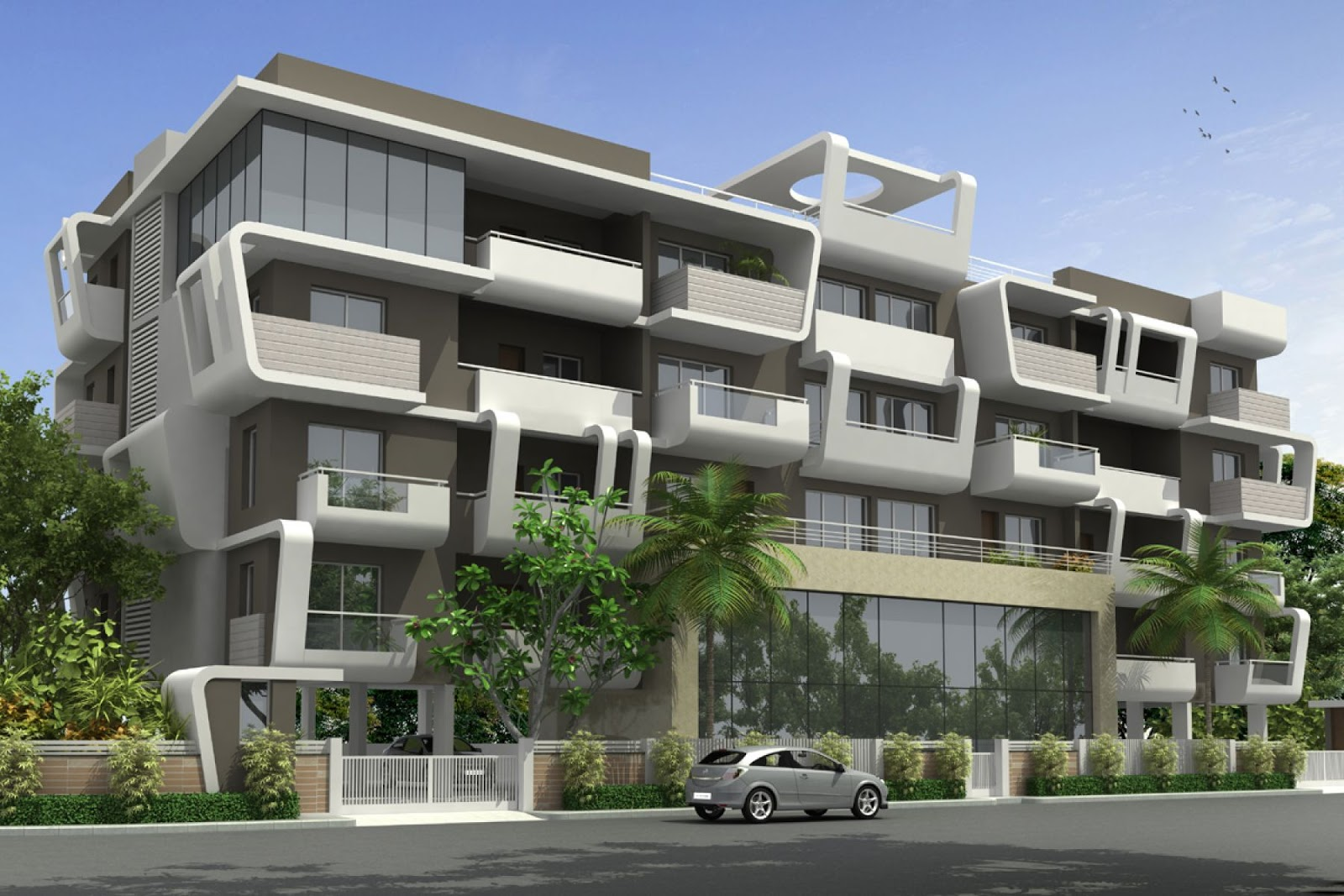 3d apartments 3d architecture visualizations for Latest apartment designs
