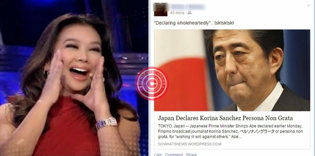 Korina Sanchez Reported as Persona Non Grata in Japan Related to Typhoon Ruby Remarks