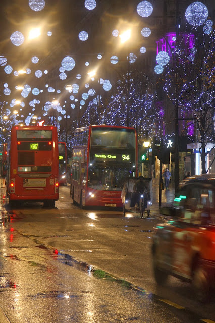 Oxford Street Christmas Lights & London Buses