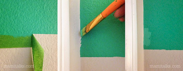 Tips on how to paint a striped wall - MamiTalks.com