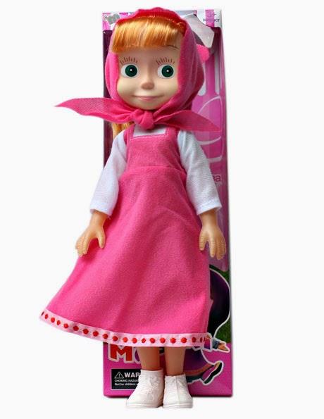 Kado ulang tahun berupa boneka masha yang dapat bernyanyi.