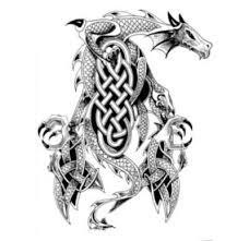 Motif Tato Naga Hitam Putih 22
