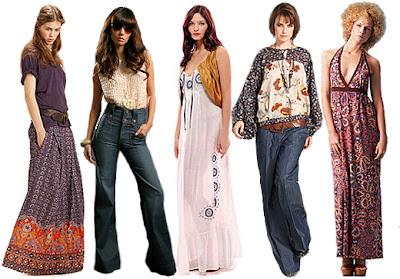 70 an pada akhir 60 an fesyen hippies mula popular
