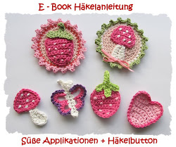 E-Book, Häkelanleitung Applikationen + Button