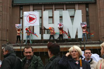 Фото Укринформ: протест Femen