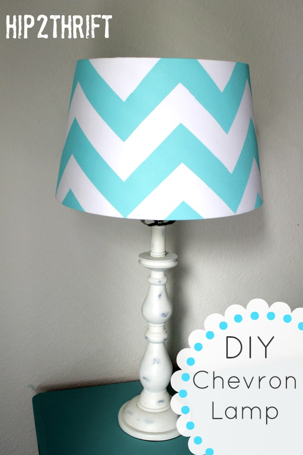 Hip2thrift How To Make Your Own Chevron Lamp Tutorial