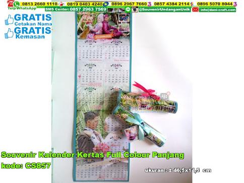Souvenir Kalender Kertas Full Colour Panjang