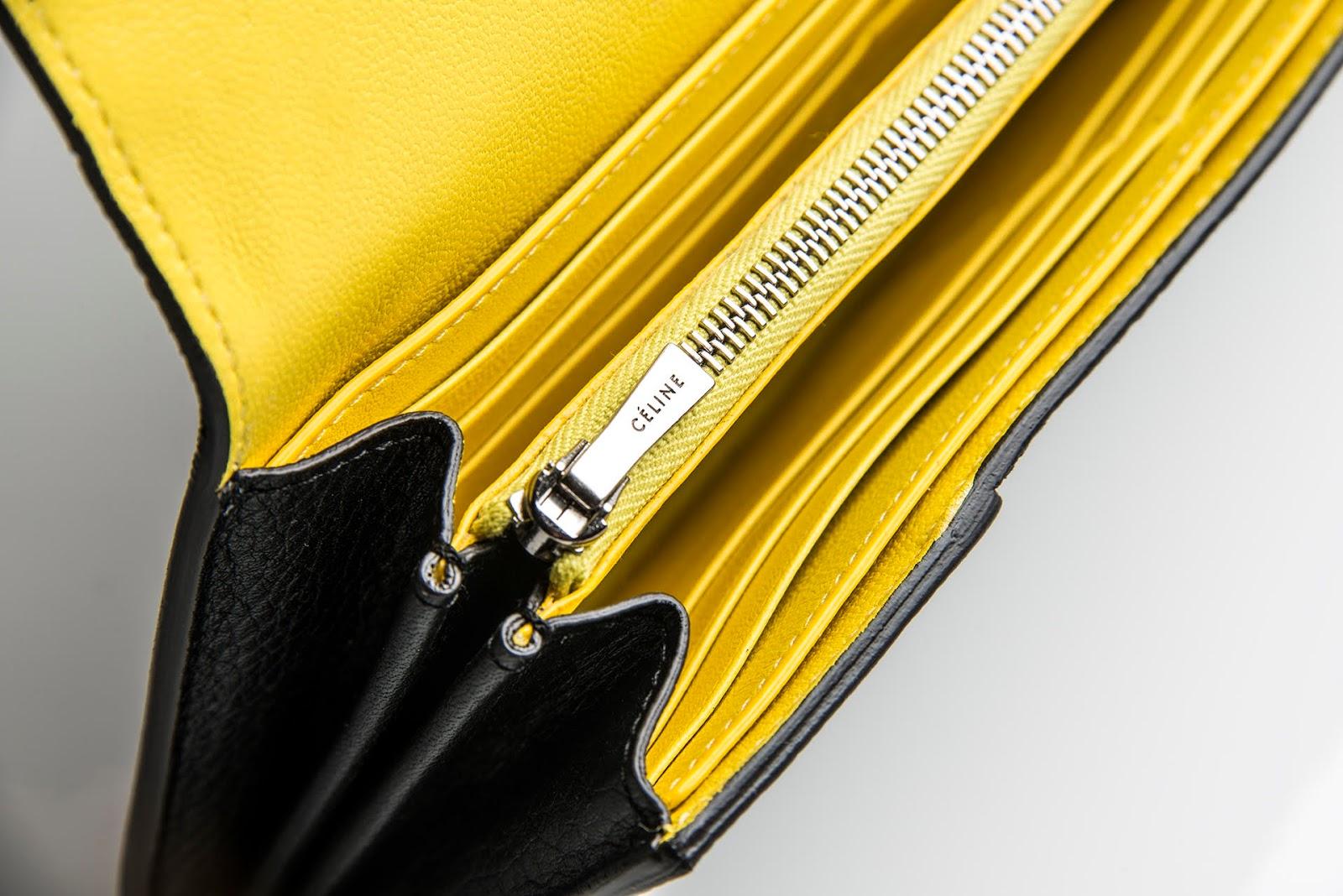 celine black wallet