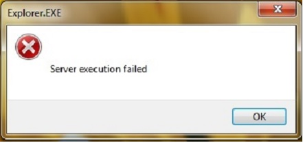 explorer.exe server execution failed 2008r2