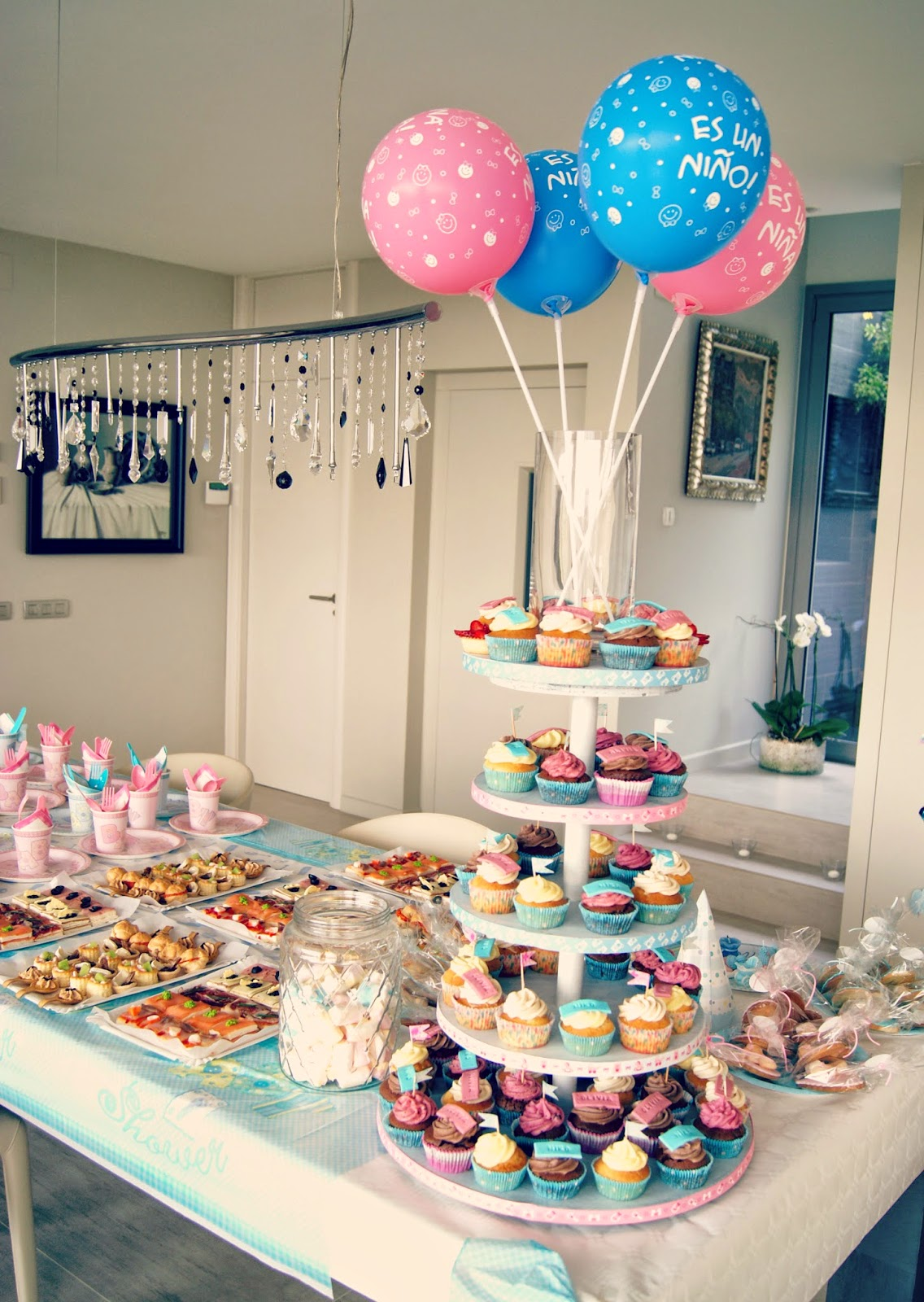 baby shower para azul y rosa sibarum catering