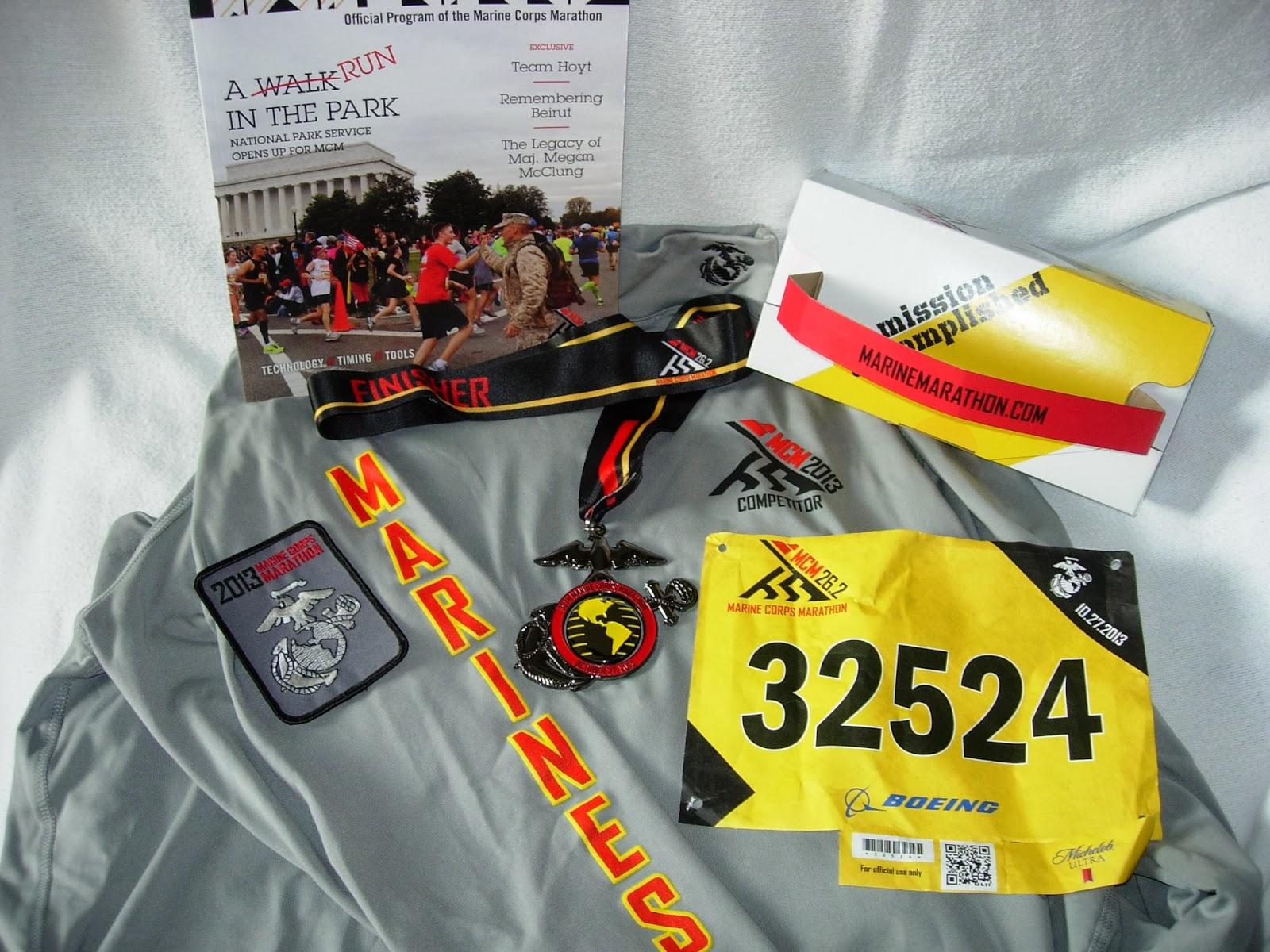 K e swab marine corps marathon october 27 2013 for Marine corps marathon shirt 2017