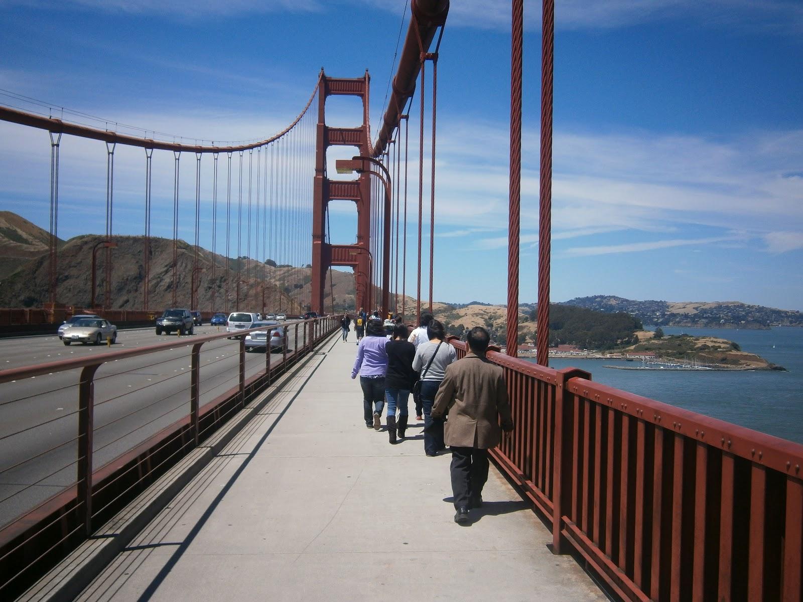 Adventures in Weseland: Golden Gate Bridge Walk in Pictures