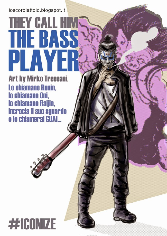 hero the bass player character design outfit mirko treccani
