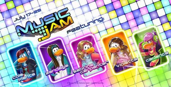 Club Penguin Music Jam appearances