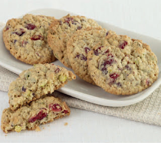 Pistachio and Cranberry Oat Cookies