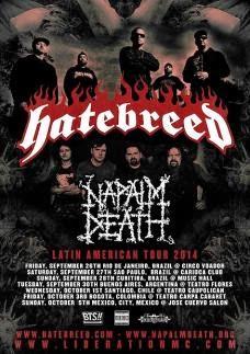 Recitales en Chile Octubre :                                             Napalm Death y Hatebreed e