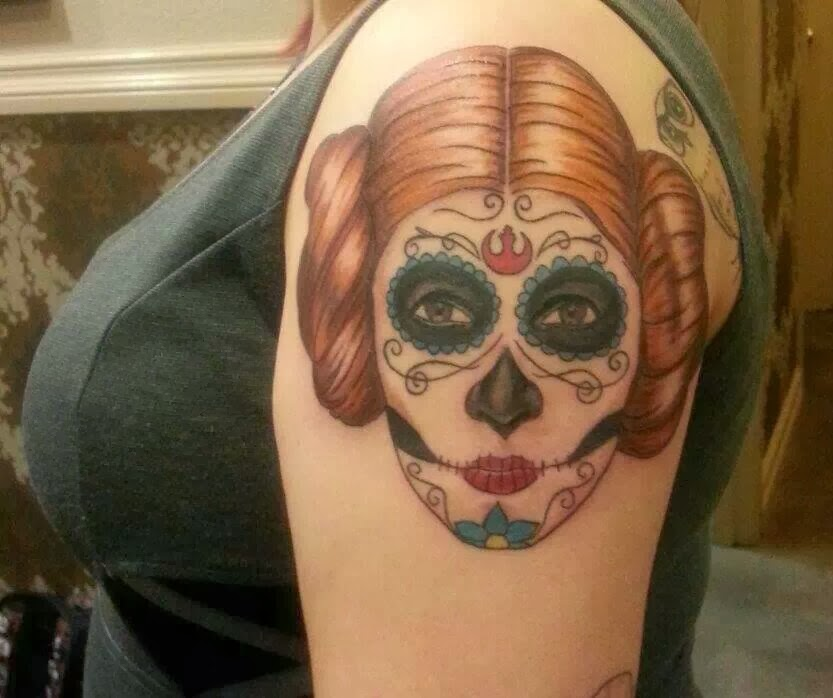 day of the dead leia tatto