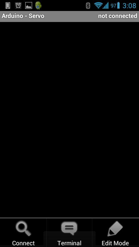 Microcontroller BT - Modo de edição