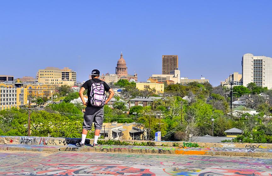& Woodland Shoppers Paradise: Baylor Street Art Wall (Austin TX)