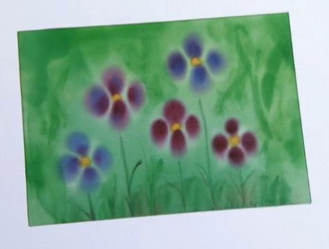 Técnica de pintura em seda