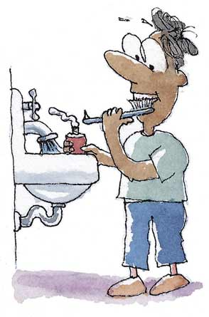 "brushing teeth clip art. ""rush your teeth to make"