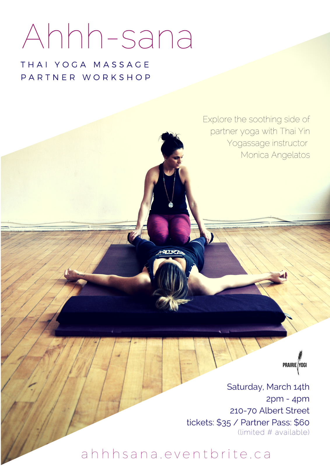 thai yoga massage, partner yoga winnipeg, healing hands, loving touch, winnipeg events, winnipeg yoga, monica angelatos, prairie yogi