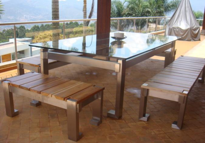 en Acero Inoxidable  DyG Solucon Repisas, Mesas y Muebles en madera
