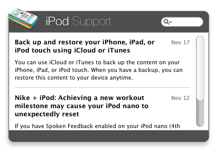iPod Support