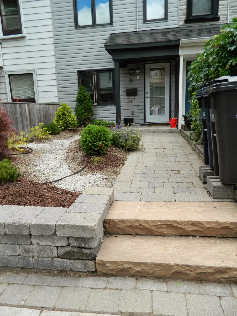 Leslieville garden cleanup front path after Paul Jung Gardening Services Toronto