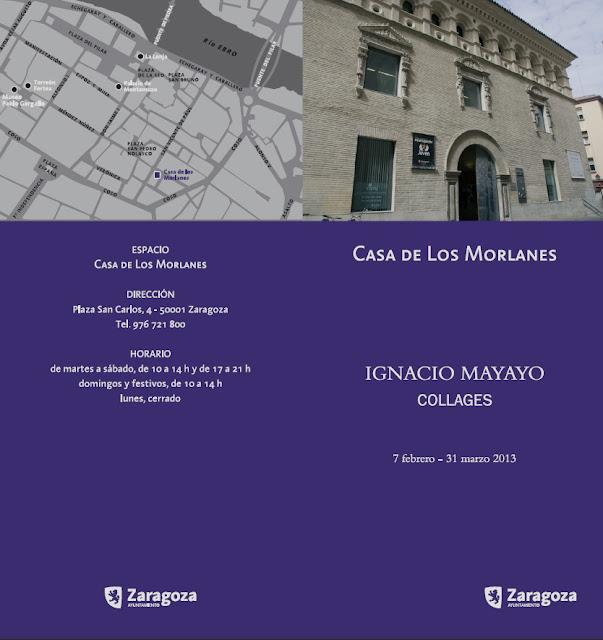 Cartel exposición en Casa de los Morlanes