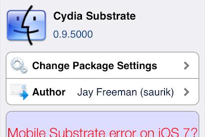 Cara Mengatasi Mobile Substrate Error di iOS 7 Setelah di Update