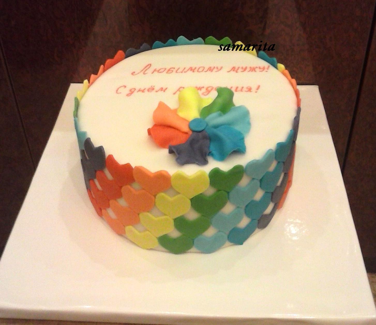 Торт мужу из мастики на день рождения