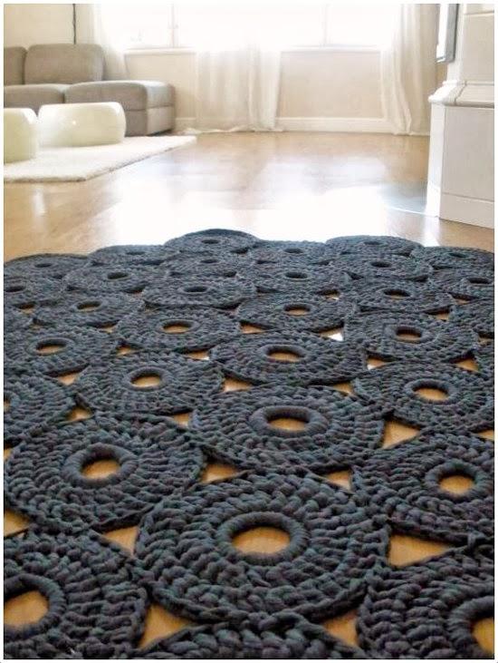 Em rita desastre crochet seguimos tejiendo alfombras de - Alfombras de trapillo ...