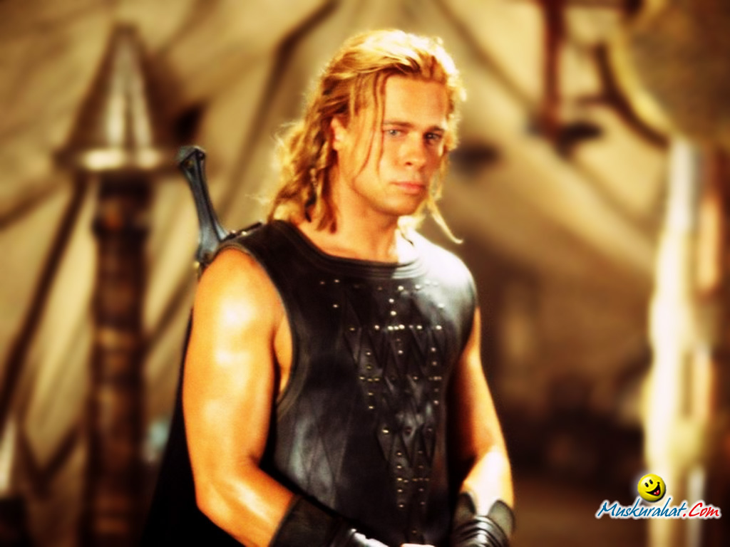 the brad pitt look alike viswanath art troy achilles brad pitt digitalAchilles Brad Pitt Hair