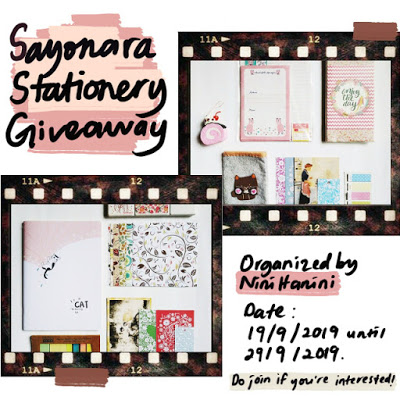 Sayonara Stationery Giveaway by NiniHanini