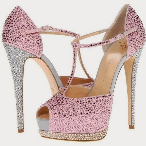 Pink sandals for parties