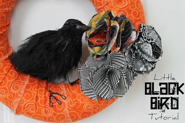 Little Black Bird Wreath {Twin Dragonfly Designs}