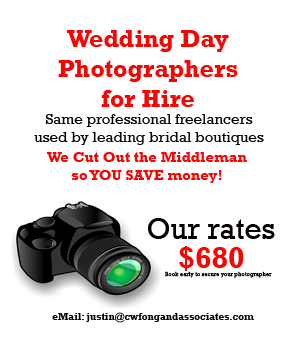 Cheap and Good Wedding Day Photography Packages in Singapore