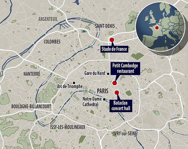 Bataclan Concert Hall Paris Map.Economicpolicyjournal Com Map Where The Paris Attacks Took Place